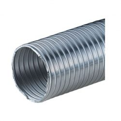 Félmerev aluminium cső NA080/1m