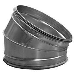 BL250/30 fém szeletes könyök idom, gumitömítéssel
