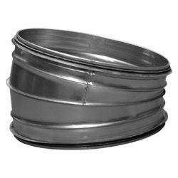 BL315/15 fém szeletes könyök idom, gumitömítéssel