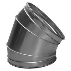 BL355/45 fém szeletes könyök idom, gumitömítéssel