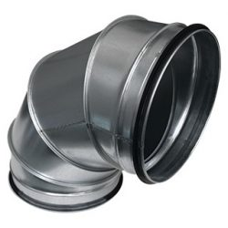 BL400/90 fém szeletes könyök idom, gumitömítéssel