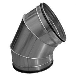 BL450/60 fém szeletes könyök idom, gumitömítéssel