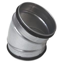 BL100/30 fém préselt könyök idom, gumitömítéssel