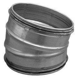BL125/15 fém szeletes könyök idom, gumitömítéssel