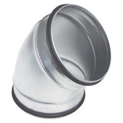 BL160/45 fém préselt könyök idom, gumitömítéssel