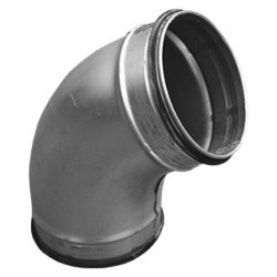 BL080/60 fém préselt könyök idom, gumitömítéssel