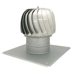 CA-K250 alumínium huzatfokozó, négyszögletű talpazattal, szellőző kürtőre