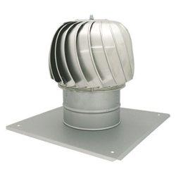CA-K500 alumínium huzatfokozó, négyszögletű talpazattal, szellőző kürtőre