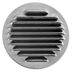 ELB100 préselt alumínium fali rács, rovarhálóval