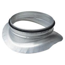 PSL 200/160 fém nyeregidom, gumitömítéssel