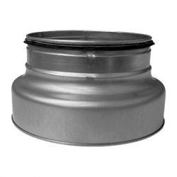 RCFPL 250/125 préselt fém szűkítő idom, idomkapcsolós véggel, gumitömítéssel