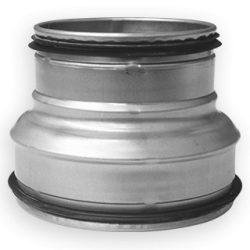 RCPL 250/100 préselt fém szűkítő idom, gumitömítéssel