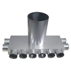 RKJI 10-es horganyzott acél osztódoboz, 75 mm-es leágazásokkal