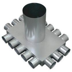 RKJI 16-os hőszigetelt, horganyzott acél osztódoboz, 75 mm-es leágazásokkal (3+5+3+5)