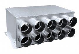 RPD 10-es horganyzott acél osztódoboz 75 mm-es leágazásokkal