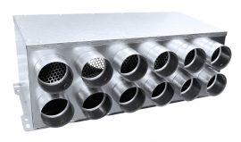 RPD 12-es horganyzott acél osztódoboz 75 mm-es leágazásokkal