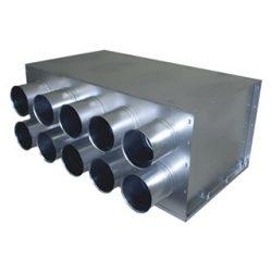 RPDI 10-es hőszigetelt horganyzott acél osztódoboz 75 mm-es leágazásokkal