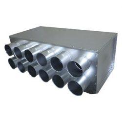 RPDI 12-es hőszigetelt horganyzott acél osztódoboz 75 mm-es leágazásokkal