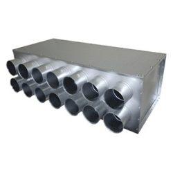RPDI 14-es hőszigetelt, horganyzott acél osztódoboz 75 mm-es leágazásokkal