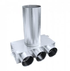 SR-T3 horganyzott acél szelepfogadó, 75 mm-es, hosszú csonkkal