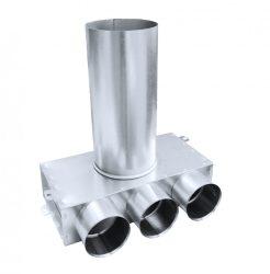 SR-T3 horganyzott acél szelepfogadó, hosszú csonkkal, 75 mm-es rendszerekhez