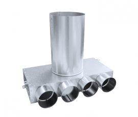 SR-T4 horganyzott acél szelepfogadó, hosszú csonkkal, 75 mm-es rendszerekhez