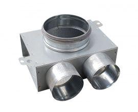 SR-TK2 horganyzott acél szelepfogadó, rövid csonkkal, 75 mm-es rendszerekhez