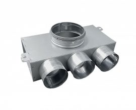 SR-TK3 horganyzott acél szelepfogadó, rövid csonkkal, 75 mm-es rendszerekhez