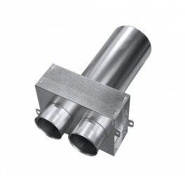 SR-TP2 horganyzott acél szelepfogadó, egyenes csonkkal, 75 mm-es rendszerekhez