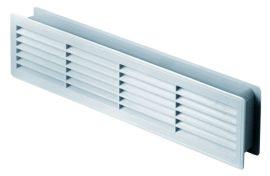 Awenta T15 négyszögletes műanyag ajtórács, bútorrács, fehér