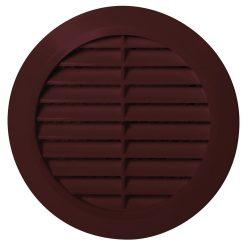 Awenta T23BR kerek fali rács, 150-es csőcsonkkal, rovarhálóval, barna
