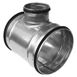 TCPL 125/100 fém T idom, gumitömítéssel