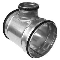 TCPL 250/125 fém T idom, gumitömítéssel