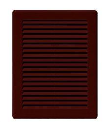 Awenta TRU22BR négyszögletes fali rács 200X250, rovarhálóval, barna színben