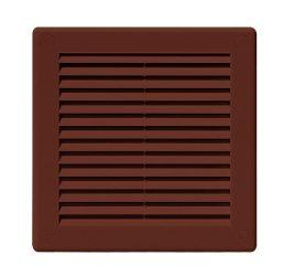 Awenta TRU2BR négyszögletes fali rács 150X150, rovarhálóval, barna színben