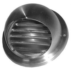 VLA160 inox esővédő fali rács
